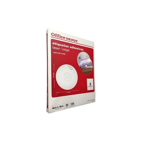 ETIQUETAS LASER INKJET CD OFFICE DEPOR CON 100 PZ