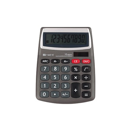 CALCULADORA BASICA SPECTRA 10 DIGITOS WCT0202J GRIS
