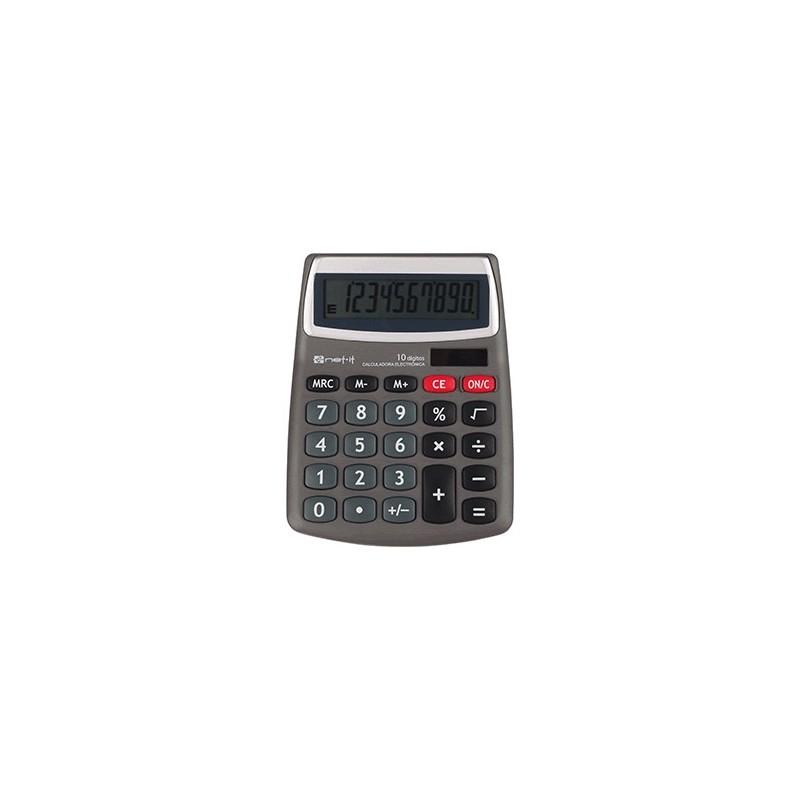 CALCULADORA BASICA SPECTRA 10 DIGITOS WCT0202J GRIS - Envío Gratuito
