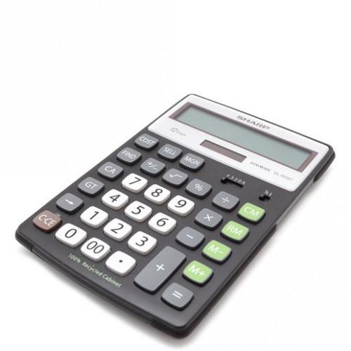 CALCULADORA BASICA SHARP EL-R297BBK 12 DIGITOS