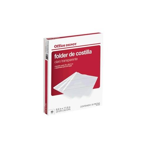 FOLDER DE COSTILLA OFFICE DEPOT 50 PIEZAS - Envío Gratuito
