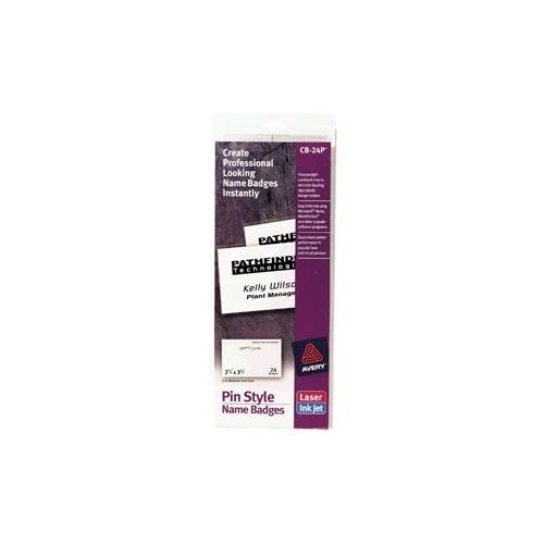 GAFETE CON PIN METALICO AVERY 2 1/6X3 1/2 C/24 - Envío Gratuito