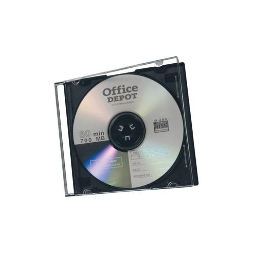 ESTUCHE DELGADO PARA CD/DVD OFFICE DEPOT CON 40 PZ - Envío Gratuito