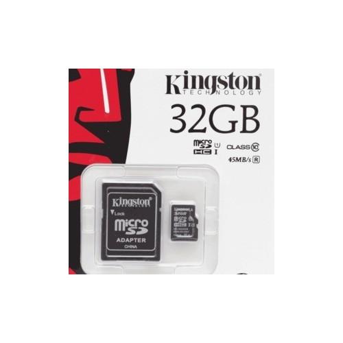TARJETA MICRO SD KINGSTON 32GB CLASE 10 - Envío Gratuito