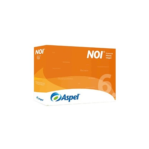 ASPEL NOI 6.0 /1 LICENCIA 12 MESES - Envío Gratuito