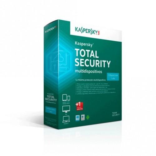 ANTIVIRUS KASPERSKY TOTAL SECURITY MD 2015 3 USER - Envío Gratuito