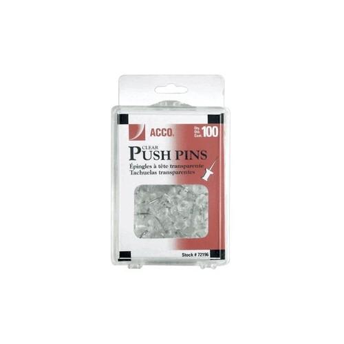 PINS CABEZA PLASTICA ACCO TRANSPA