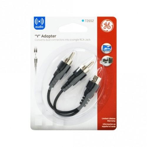 CABLE ADAPTADOR 2 RCA-JACK GENERAL ELECTRIC - Envío Gratuito