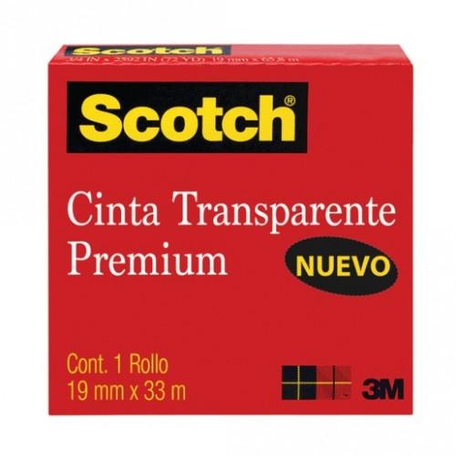 CINTA TRANSPARENTE 19MM X 33M