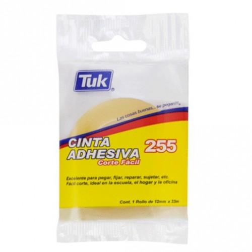 CINTA ADHESIVA TUK 255 CORTEFACIL 12MM X 33M PIEZA