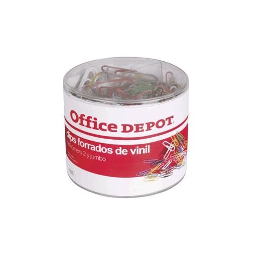 CLIPS DE COLORES OFFICE DEPOT JUMBO Y ESTANDAR