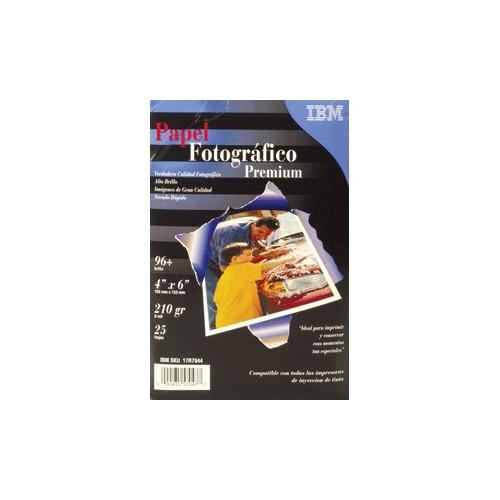 PAPEL FOTOGRAFICO ALTO BRILLO 4 X 6 25 HOJAS IBM - Envío Gratuito