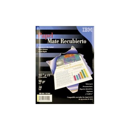 PAPEL FOTOGRAFICO MATE CARTA 50 HOJAS IBM - Envío Gratuito