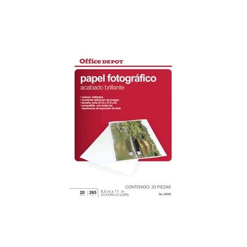 PAPEL FOTOGRAFICO 8.5 X 11 20 HOJAS OFFICE DEPOT