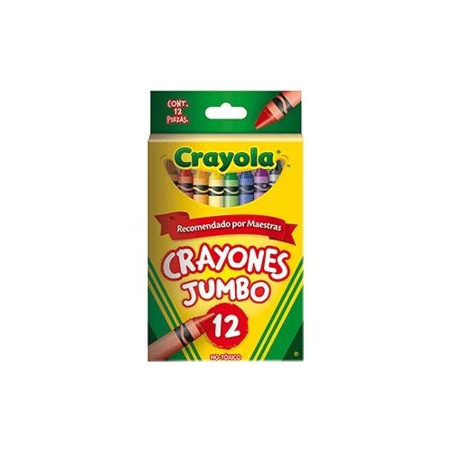 CRAYONES JUMBO CRAYOLA COLORES SURTIDOS C/12 - Envío Gratuito