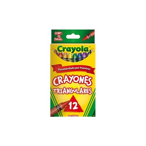 CRAYONES TRIANGULARES CRAYOLA COLORES SURTIDOS C12 - Envío Gratuito