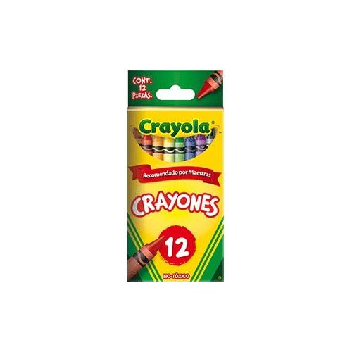 CRAYON ESTANDAR CRAYOLA COLORES SURTIDOS CAJA C/12 - Envío Gratuito