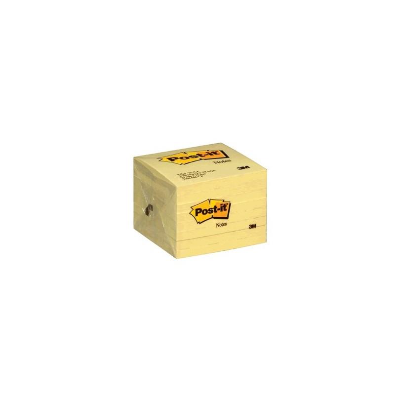 POST-IT 654 3 X 3 AMARILLO BLOCK C/100HOJAS PAQ/6 - Envío Gratuito