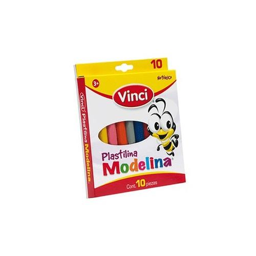 PLASTILINA PARA MOLDEAR VINCI COLORES SURTIDOS C10 - Envío Gratuito