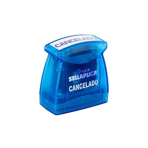 SELLO PREENTINTADO CANCELADO TINTA AZUL