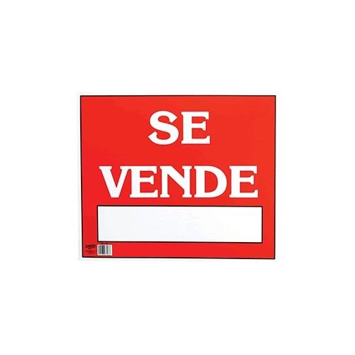 LETRERO CON LEYENDA SE VENDE 34 X 50 CM SABLON - Envío Gratuito