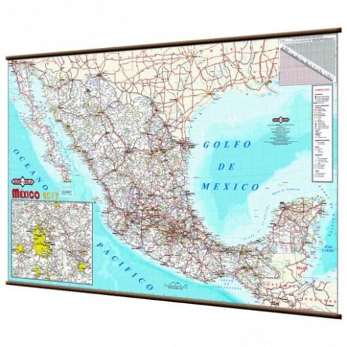 MAPA MURAL REPUBLICA MEXICANA 2017 - Envío Gratuito
